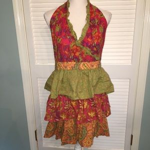 Pier One Fall Colored Ruffled Apron